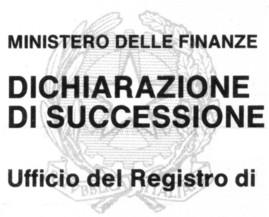 DICHIARAZIONE DI SUCCESSIONE